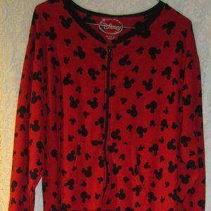 Disney unisex fleece footed pajamas size 2X